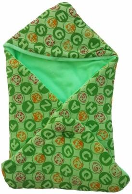 Brandonn Polka Single Hooded Baby Blanket Green