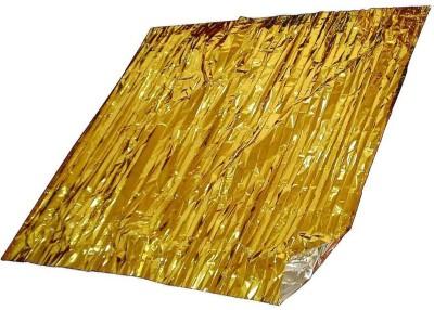 AAZOS Plain Single Blanket Gold