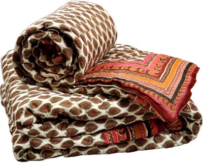 Little India Floral Double Quilts & Comforters White, Red