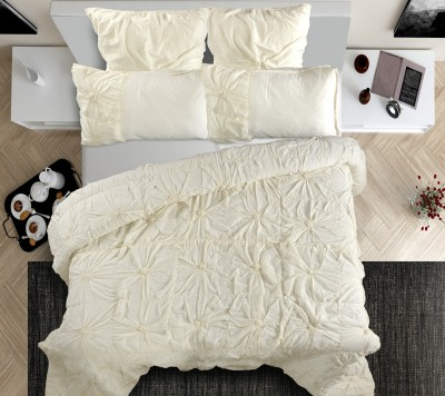 Shahenaz Home Shop Floral King Quilts & Comforters Offwhite