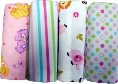 BornBabyKids Printed Single Swadding Baby Blanket Multicolor