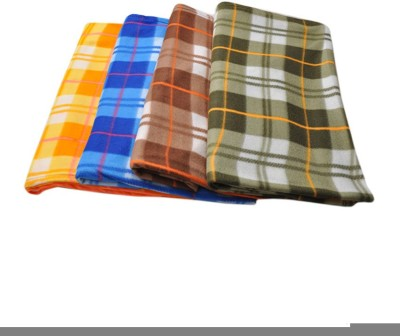 Divine Checkered Double Blanket Yellow, Blue, Green