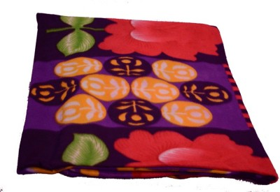 Magical Floral Single Blanket Purple