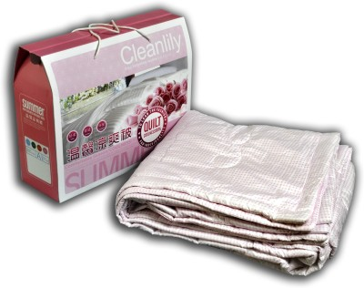 Softline Polka Double Quilts & Comforters Pink