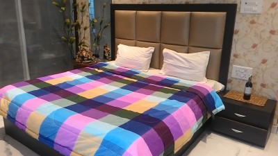 Tima Checkered Double Quilts & Comforters Multicolor