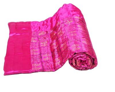 Jaipurtextilehub Floral Single Quilts & Comforters Pink