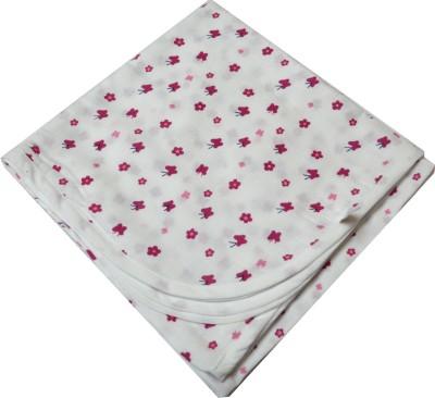 Ireeya Floral Single Blanket Pink, White