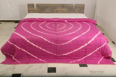 Bhavya International Plain Double Quilts & Comforters Pink