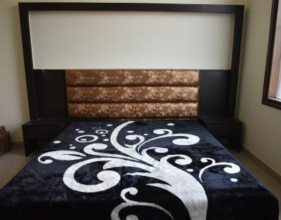 DHANI Printed Double Blanket White