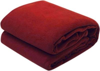 Excel Bazaar Plain Double Blanket Maroon