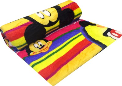 Indian Heritage Cartoon Double Blanket Multicolor