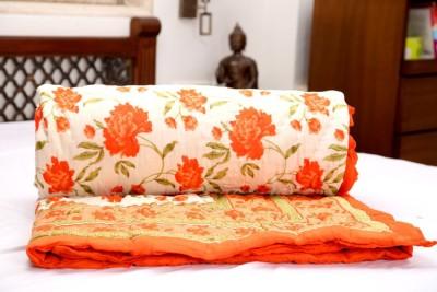 GRJ India Floral Single Quilts & Comforters Multicolour