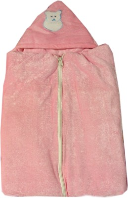 Prayag Plain Single Blanket Baby Pink