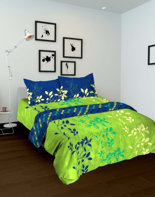 Tomatillo Floral Double Quilts & Comforters Blue, Green