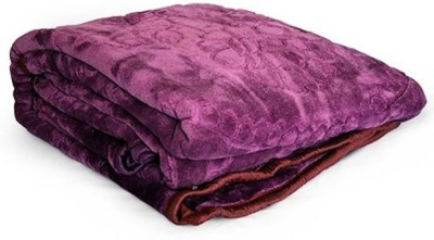 Ganga Plain Double Blanket Purple