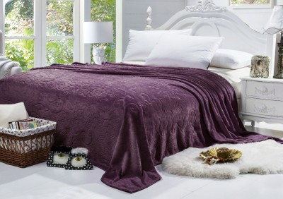 Bombay Dyeing Floral Single Blanket Purple