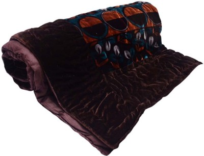 Monil Floral Double Quilts & Comforters Brown