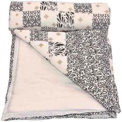 Stole & Yarn Floral Single Quilts & Comforters Black