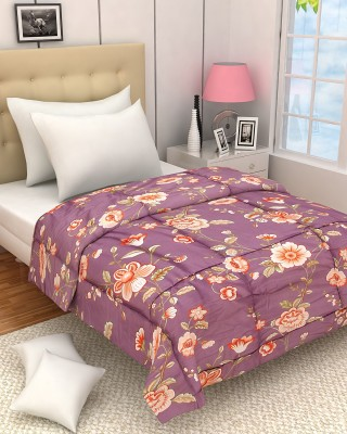 Zyne Floral Single Quilts & Comforters Multicolor
