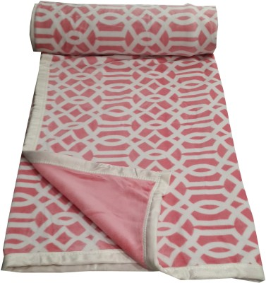 Welhouse Abstract Double Blanket Pink