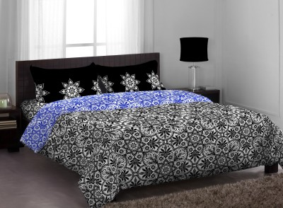 Stellar Home Polycotton Abstract Queen sized Double Bedsheet