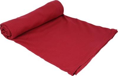 MOS-QUIT-O Plain Single Blanket Maroon