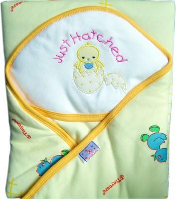 Tiny Care Plain Single Blanket Yellow