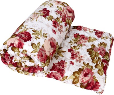 IndiWeaves Floral Double Quilts & Comforters White