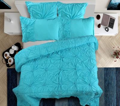 Shahenaz Home Shop Plain King Quilts & Comforters Turquoise