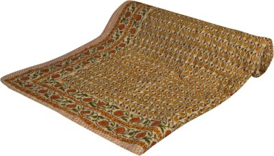 Bagru Crafts Geometric Double Quilts & Comforters Brown