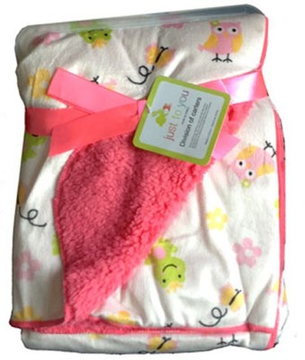 Carter Animal Single Blanket Pink White