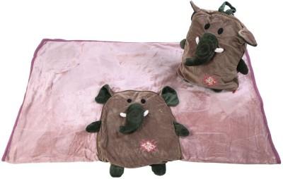 Baby Oodles Animal Single Blanket Brown
