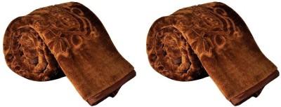 Saksham Floral Single Blanket Brown1
