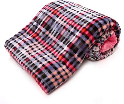 Jain International Checkered Single Blanket Multicolor
