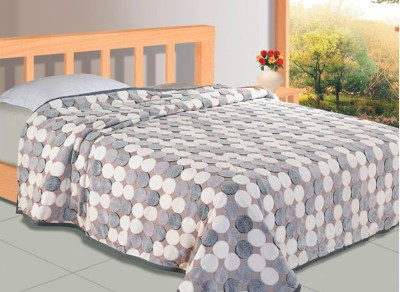 Zyne Abstract Double Blanket Grey, White