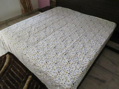 Deluxe Floral Double Dohar Yellow Brown