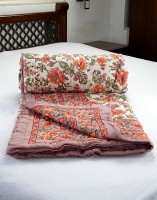 Jodhaa Printed Double Quilts & Comforters White, Brown(Quilt)
