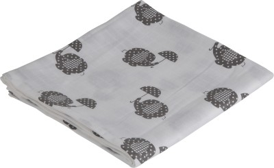 brotherbaby Animal Double Swadding Baby Blanket white with grey
