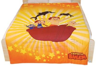 Chhota Bheem Cartoon Single Quilts & Comforters Yellow