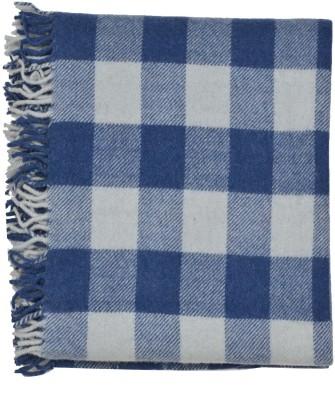 Home Boutique Checkered Single Throw Blue