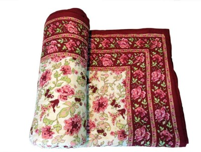 Sudharaj Floral Single Blanket Multi Colour