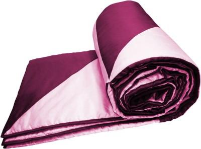 Zikrak Exim Plain Single Quilts & Comforters Pink, Lavender