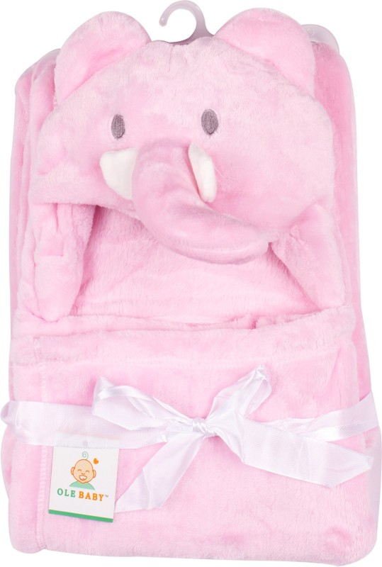 Ole Baby Plain Single Blanket Pink(1 Ole Baby Hooded Mink Blanket)