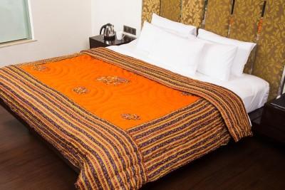 JaipurFabric Cartoon Double Quilts & Comforters Orange