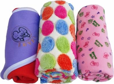 Brandonn Printed Single Hooded Baby Blanket Pink