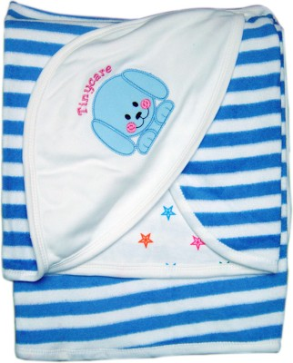 Tiny Care Checkered Single Blanket Blue