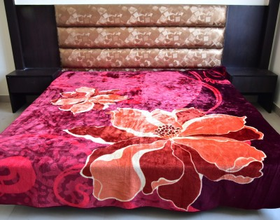 DHANI Printed Queen Blanket Red