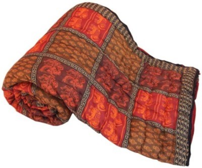 Monil Checkered Double Quilts & Comforters Multicolor