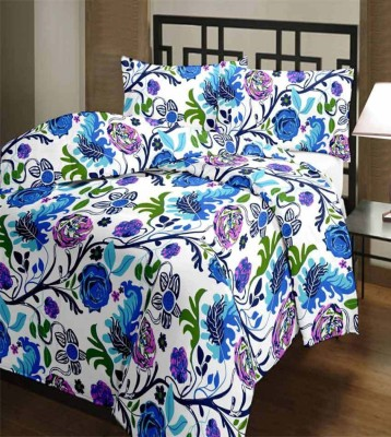 FINCH FEATHER Floral Double Dohar Blue
