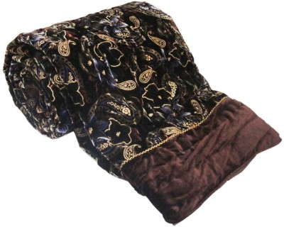 Little India Paisley Double Quilts & Comforters Brown